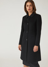 Emporio Armani | Однобортное пальто из 100% кашемира с хлястиком | Clouty