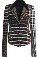 Haider Ackermann | Haider Ackermann Woman Velvet-trimmed Tweed Blazer Black Size 36 | Clouty
