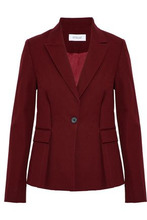 Derek Lam 10 Crosby | Derek Lam 10 Crosby Woman Tie-front Cotton-blend Twill Blazer Claret Size 4 | Clouty