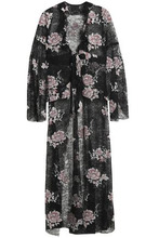 Anna Sui | Anna Sui Woman Belted Embroidered Chantilly Lace Jacket Black Size 2 | Clouty