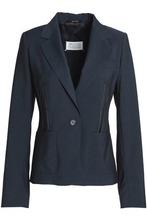 Maison Margiela | Maison Margiela Woman Embellished Wool Blazer Indigo Size 40 | Clouty