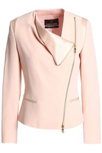 Roberto Cavalli | Roberto Cavalli Woman Satin-trimmed Crepe Jacket Blush Size 38 | Clouty