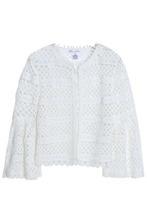 Oscar De La Renta | Oscar De La Renta Woman Fluted Cotton-lace Jacket Ivory Size M | Clouty