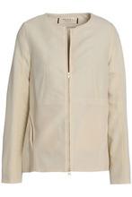Marni | Marni Woman Wool And Silk-blend Jacket Ecru Size 40 | Clouty