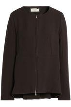 Marni | Marni Woman Wool And Cotton-blend Jacket Brown Size 44 | Clouty