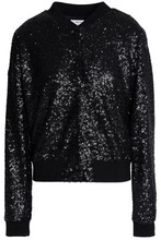 Bailey 44 | Bailey 44 Woman Sequined Mesh Bomber Jacket Black Size M | Clouty