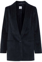Iris & Ink | Iris & Ink Woman Dallas Cotton-blend Corduroy Blazer Midnight Blue Size 8 | Clouty