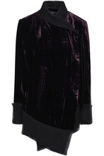 Ann Demeulemeester | Ann Demeulemeester Woman Bow-embellished Velvet Jacket Grape Size 38 | Clouty