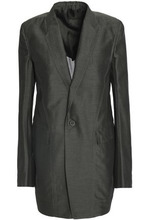 RICK OWENS | Rick Owens Woman Cotton And Silk-blend Faille Blazer Army Green Size 38 | Clouty