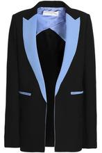 Amanda Wakeley | Amanda Wakeley Woman Pixel Color-block Neoprene Blazer Black Size 10 | Clouty