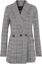W118 By Walter Baker | W118 By Walter Baker Woman Saundra Prince Of Wales Checked Woven Blazer Gray Size M | Clouty