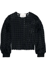 Carolina Herrera | Carolina Herrera Woman Cotton Guipure Lace Jacket Black Size 6 | Clouty