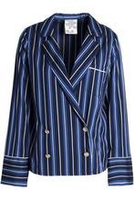 Baum und Pferdgarten | Baum Und Pferdgarten Woman Striped Twill Blazer Midnight Blue Size 40 | Clouty