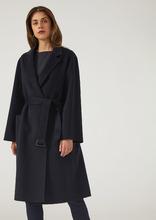 Emporio Armani | Пальто из 100% кашемира со съёмным поясом и воротником с лацканами | Clouty