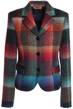 Missoni | Missoni Woman Checked Wool-blend Blazer Multicolor Size 38 | Clouty