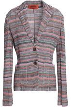 Missoni | Missoni Woman Metallic Crochet-knit Blazer Lilac Size 40 | Clouty