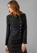 Giorgio Armani | Двубортный пиджак из текстурной ткани с полами в форме лепестков | Clouty