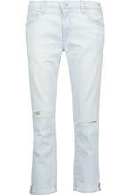 Current/Elliott | Current/elliott Woman Distressed Boyfriend Jeans Light Denim Size 31 | Clouty