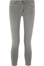 J Brand | J Brand Woman Cropped Mid-rise Skinny Jeans Gray Size 24 | Clouty
