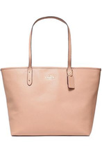 COACH | Coach Woman Textured-leather Tote Blush Size - | Clouty