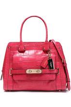 COACH | Coach Woman Croc-effect Leather Shoulder Bag Fuchsia Size - | Clouty