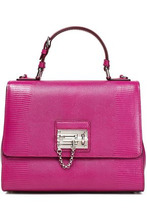Dolce & Gabbana | Dolce & Gabbana Woman Lizard-effect Leather Shoulder Bag Magenta Size - | Clouty