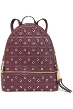 Michael Michael Kors   Michael Michael Kors Woman Eyelet-embellished Quilted Leather Backpack Violet Size -   Clouty