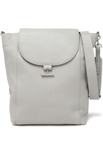 Halston Heritage | Halston Heritage Woman Textured-leather Shoulder Bag Stone Size - | Clouty