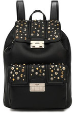 LANVIN | Lanvin Woman Jiji Studded Textured-leather Backpack Black Size - | Clouty