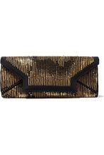Oscar De La Renta | Oscar De La Renta Woman Embellished Faille Envelope Clutch Black Size - | Clouty