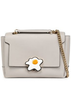 Anya Hindmarch | Anya Hindmarch Woman Bathurst Embellished Leather Shoulder Bag Stone Size - | Clouty