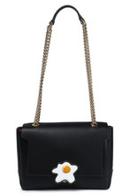 Anya Hindmarch | Anya Hindmarch Woman Embellished Leather Shoulder Bag Black Size - | Clouty