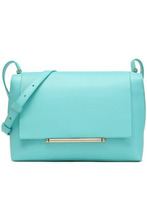 Delpozo | Delpozo Woman Bo Two-tone Leather Shoulder Bag Turquoise Size - | Clouty