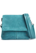 Halston Heritage | Halston Heritage Woman Dylan Suede Shoulder Bag Teal Size - | Clouty