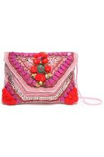 Antik Batik | Antik Batik Woman Embellished Cotton Shoulder Bag Pink Size - | Clouty