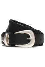 RAG & BONE | Rag & Bone Woman Mckenzie Whipstitched Leather Belt Black Size M | Clouty