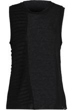 Koral | Koral Woman Parallax Pleated Tencel-jersey Tank Black Size L | Clouty