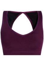 Koral | Koral Woman Open-back Stretch Sports Bra Purple Size S | Clouty