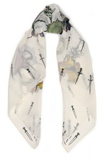 RAG & BONE | Rag & Bone Woman Printed Silk-chiffon Scarf White Size - | Clouty