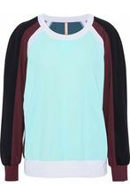 No Ka'Oi | No Ka 'oi Woman Loa Color-block Stretch-jersey Sweatshirt Mint Size 3 | Clouty
