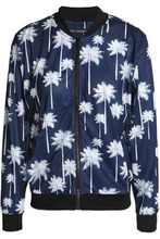 Perfect Moment   Perfect Moment Woman Printed Mesh Bomber Jacket Navy Size L   Clouty