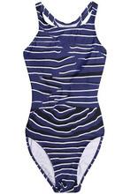 adidas by Stella McCartney | Adidas By Stella Mccartney Woman Cutout Printed Swimsuit Blue Size 32 | Clouty