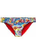 Stella McCartney | Stella Mccartney Woman Low-rise Ruffled Floral-print Bikini Briefs Yellow Size M | Clouty