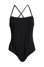 JUST CAVALLI | Just Cavalli Beachwear Woman Fringe-trimmed Swimsuit Black Size II | Clouty