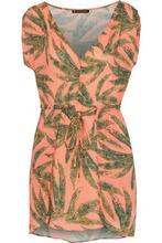 Vix By Paula Hermanny | Vix Paula Hermanny Woman Agata Printed Gauze Mini Dress Pastel Orange Size S | Clouty