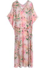 Heidi Klein | Heidi Klein Woman Embellished Printed Silk Kaftan Baby Pink Size S/M | Clouty