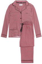DKNY   Dkny Woman Striped Cotton-blend Poplin Pajama Set Red Size L   Clouty