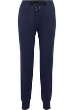 DKNY   Dkny Woman Ribbed Cotton-blend Jersey Pajama Pants Navy Size S   Clouty