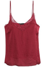 LOVE STORIES   Love Stories Woman Lace-trimmed Satin Camisole Merlot Size XL   Clouty
