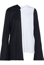 MARQUES'ALMEIDA | Marques' Almeida Woman Asymmetric Two-tone Cotton-jersey Top White Size XS | Clouty